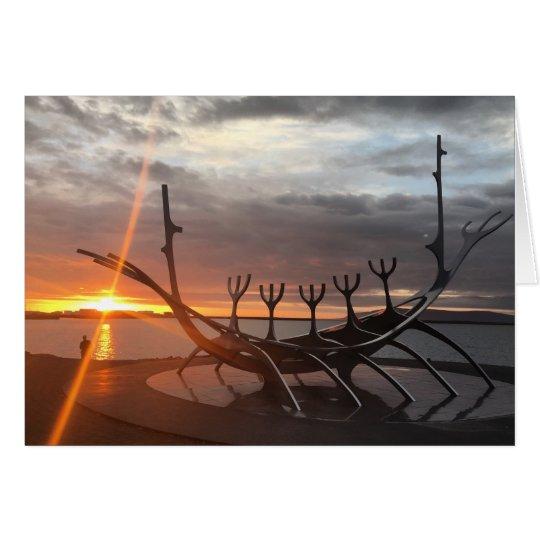 reykjavik sunset notecard