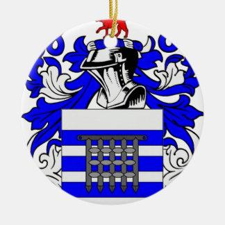 Reynolds Coat of Arms Round Ceramic Decoration