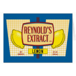 Reynold's Extract Lemon Extract Movie Mike Judge Greeting Card