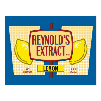 Reynold's Extract Lemon Extract Movie Mike Judge Postcard