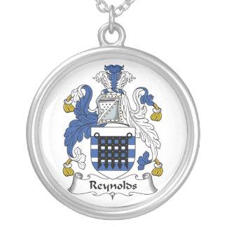 Reynolds Family Crest Round Pendant Necklace