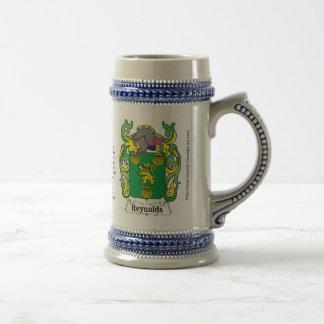 Reynolds Family Crest Stein Mug