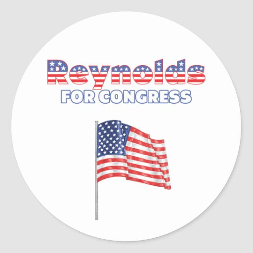 Reynolds for Congress Patriotic American Flag Stickers