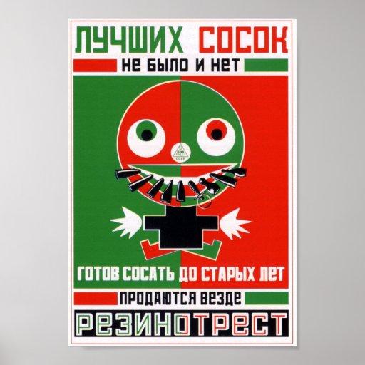 'Rezinotrest' by Alexandr Rodchenko Poster