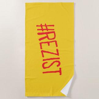 rezist romania political slogan resist protest sym beach towel