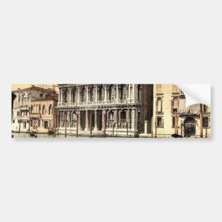 Rezzonico Palace, Venice, Italy classic Photochrom Bumper Stickers