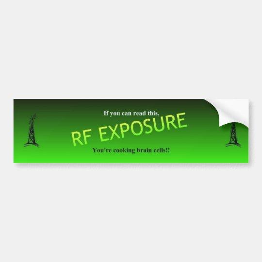 RF Exposure Bumper Sticker