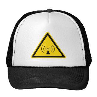 rf Warning Sign Cap Trucker Hat