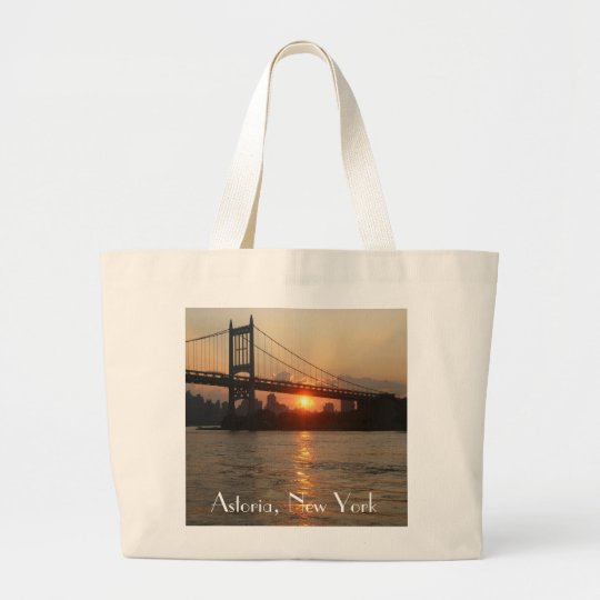 """RFK Bridge at Sunset"" Astoria, NY Jumbo Tote"