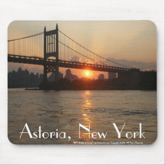 RFK Bridge at Sunset Astoria NY Mousepad