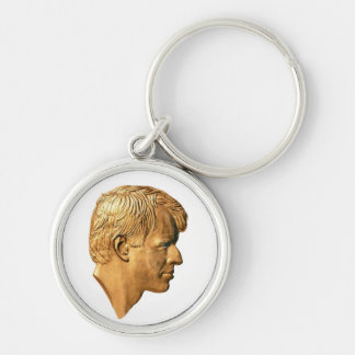 RFK Profile Silver-Colored Round Key Ring