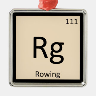 Rg - Rowing Sports Chemistry Periodic Table Symbol Christmas Ornament