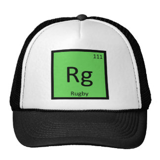 Rg - Rugby Sports Chemistry Periodic Table Symbol Trucker Hat