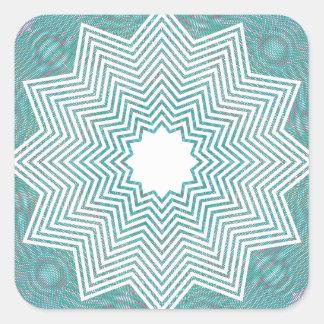 RGB Pattern Flake Square Sticker