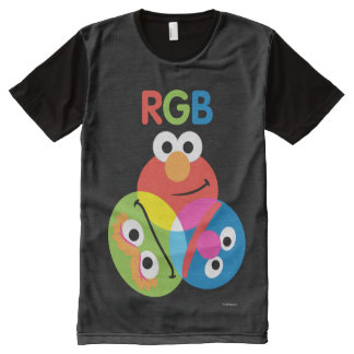 RGB Sesame Street All-Over Print T-Shirt