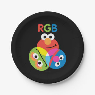 RGB Sesame Street Paper Plate