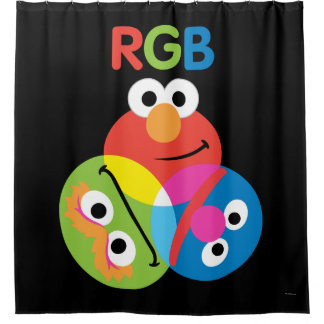 RGB Sesame Street Shower Curtain