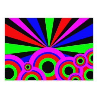 RGB Wallpaper 5x7 Paper Invitation Card