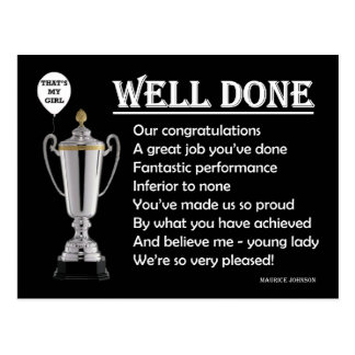 RGHTEOUS RHYMES - Well Done! - Postcard