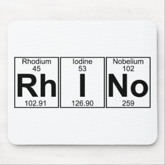 Rh-I-No (rhino) - Full Mouse Mat