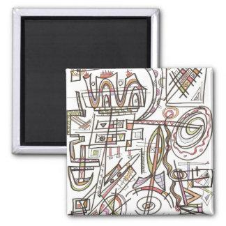 Rhapsody-Abstract Art Geometric Magnet