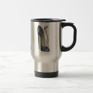Rhapsody in Blue Stiletto and Butterfly Music Art Coffee Mug