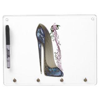 Rhapsody in Blue Stiletto Shoe Art Dry-Erase Boards