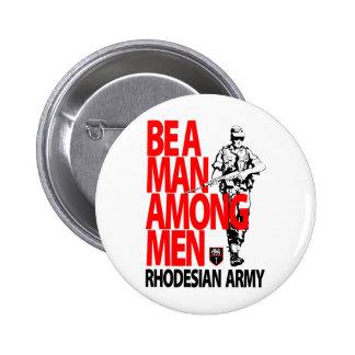 Rhdesian Army Recruiting Poster 6 Cm Round Badge