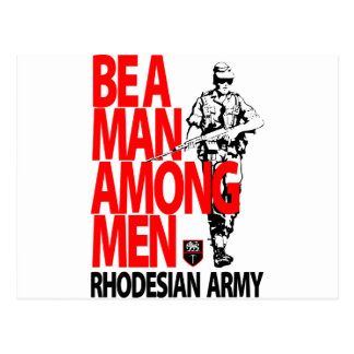 Rhdesian Army Recruiting Poster Postcard