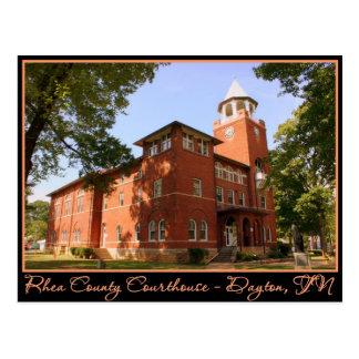 Rhea County Courthouse - Dayton TN Postcards
