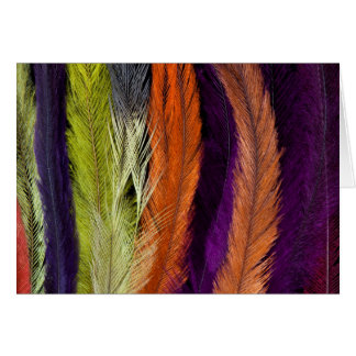 Rhea Feather Abstract Card