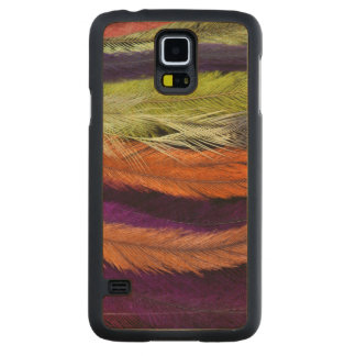 Rhea Feather Abstract Carved Maple Galaxy S5 Case