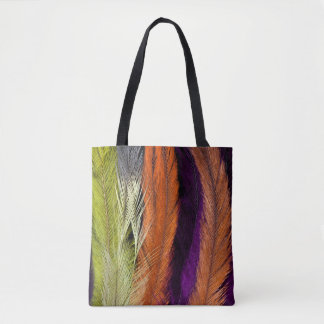 Rhea Feather Abstract Tote Bag