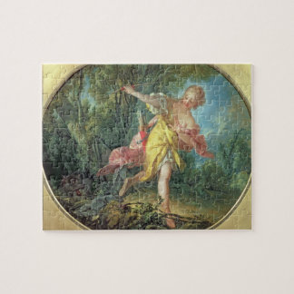 Rhea Sylvia fleeing from the Wolf, 1756 Jigsaw Puzzle