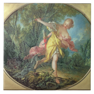 Rhea Sylvia fleeing from the Wolf, 1756 Tile