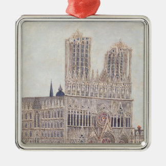 Rheims Cathedral, c.1923 Christmas Ornament