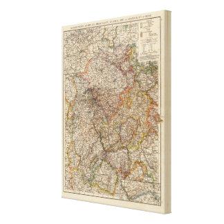 Rhenish Prussia, Westphalia, HesseNassau Canvas Print