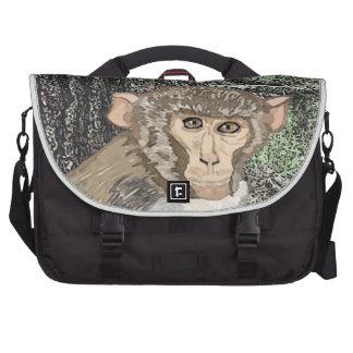 Rhesus Macaque, Watercolor Computer Bag