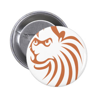 Rhesus Monkey in Swish Drawing Style Buttons