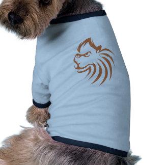 Rhesus Monkey in Swish Drawing Style Doggie T Shirt