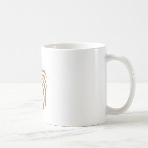 Rhesus Monkey in Swish Drawing Style Coffee Mugs