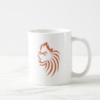 Rhesus Monkey in Swish Drawing Style Mugs
