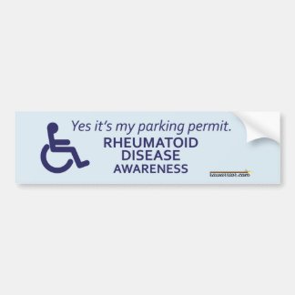 Rheumatoid Arthritis Awareness - Disability Bumper Sticker
