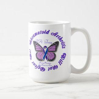 Rheumatoid Arthritis Butterfly Coffee/Travel Mug
