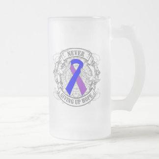 Rheumatoid Arthritis Never Giving Up Hope Frosted Glass Mug