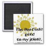 Rheumatoid Arthritis :: The Sun feels good on... Refrigerator Magnet
