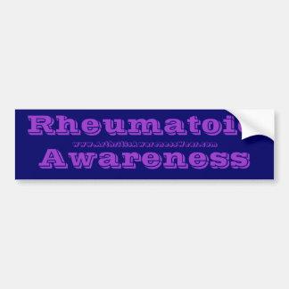 RheumatoidAwareness - in the RA awareness colors! Car Bumper Sticker