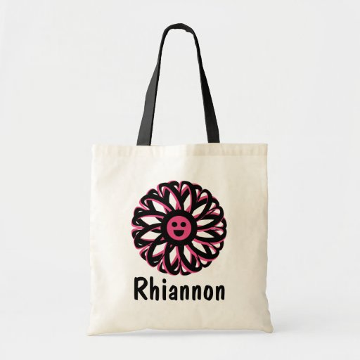 Rhiannon Happy Flower Personalized Tote Bag