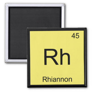 Rhiannon Name Chemistry Element Periodic Table Square Magnet