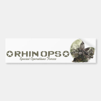Rhin Ops Special Operations Forces Gear Bumper Sticker